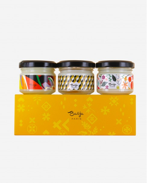 Coffret Trio Bougies • Yellow Mood